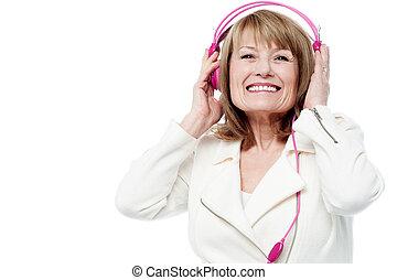 גברת, להנות, מוסיקה, יפה, נדנד