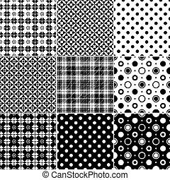 גדול, seamless, אוסף, תבניות