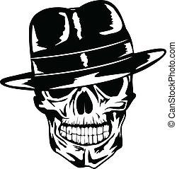 גולגולת, כובע, גנגסטר