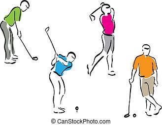 גולף, קבע, -, גברים