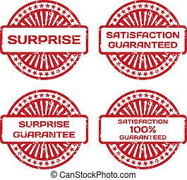 גומי, הבטח, ביל, set., דוגמה, סיפוק, וקטור, surprise., גראנג