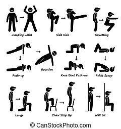 גוף, אימון, אלף, התאמן, כושר גופני