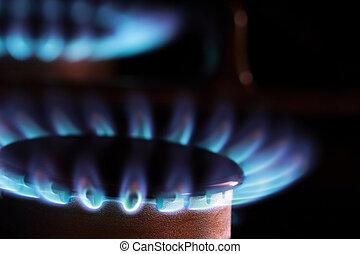 גז טבעי, להבות