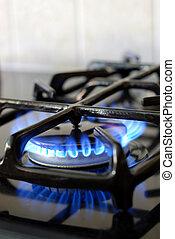 גז, להשרף, תנור, מטבח