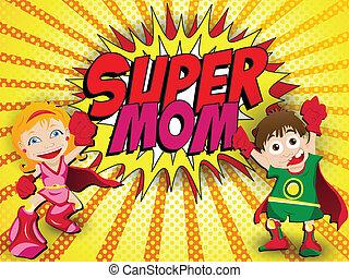 גיבור, אמא, אמא, נפלא, יום, שמח