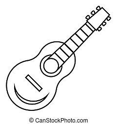 גיטרה, איקון, סיגנון, תאר