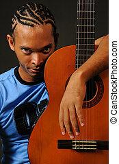 גיטרה, איש אפריקני