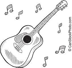 גיטרה אקוסטית, רשום