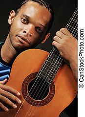 גיטרה, אקוסטי, איש אפריקני