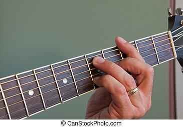 גיטרה, אקוסטי, אקורד