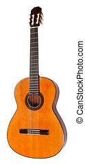 גיטרה, אקוסטי, לבן, הפרד, ספרדי