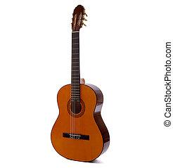 גיטרה, אקוסטי, לבן, הפרד