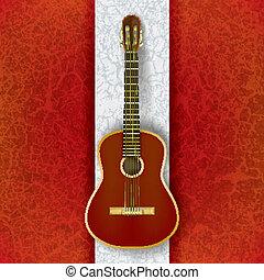 גיטרה, אקוסטי, לבן