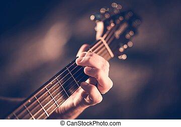 גיטרה, אקוסטי, ללמוד