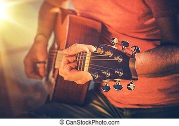 גיטרה, אקוסטי, לשלוט