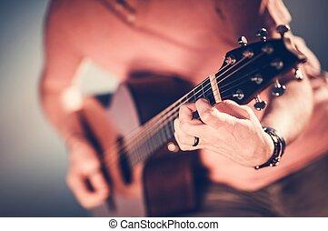 גיטרה, אקוסטי, מוסיקאי