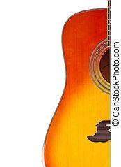 גיטרה, אקוסטי, רקע לבן