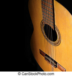 גיטרה, אקוסטי, רקע