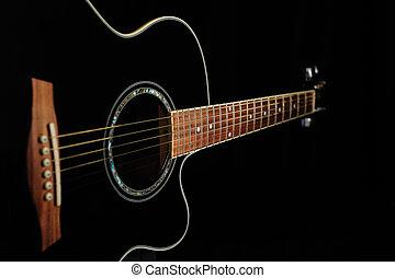 גיטרה, אקוסטי, שחור