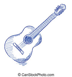 גיטרה, אקוסטי, sketched