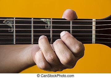 גיטרה, אקורד, *d*