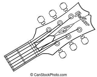 גיטרה, האידסטוק, תאר