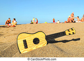גיטרה, חוף של חול