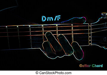 גיטרה, חושך, אקורד, רקע