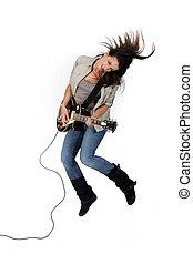 גיטרה, ילדה, לנדנד
