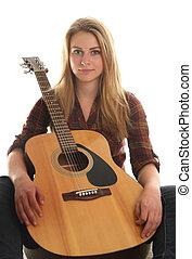 גיטרה, ילדה מתבגרה, שלה
