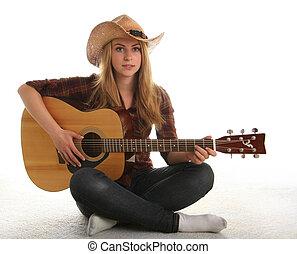 גיטרה, ילדה, שלה