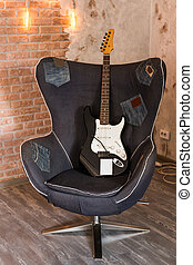 גיטרה, כסא, חשמלי