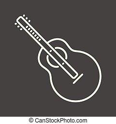 גיטרה, לבן, תאר, איקון
