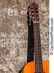 גיטרה, לסמוך, wall.