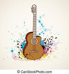גיטרה, מוסיקה, רקע
