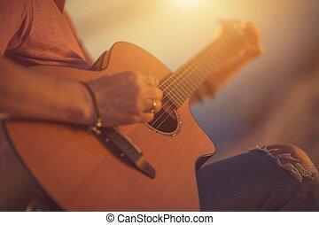גיטרה משחקת, בלדה