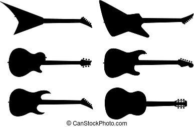 גיטרה, צלליות