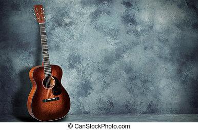 גיטרה, קיר, גראנג, רקע