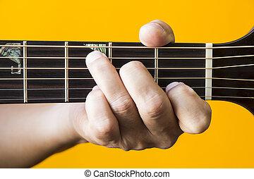 גיטרה, *c*, אקורד, עקרי
