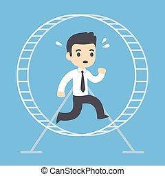 גלגל, איש עסקים רץ, אוגר