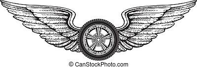 גלגל, כנפיים