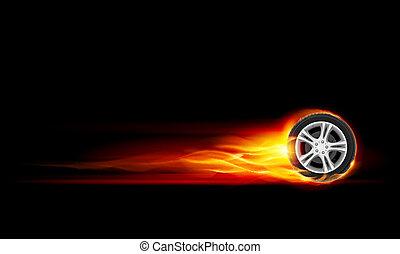 גלגל, להשרף