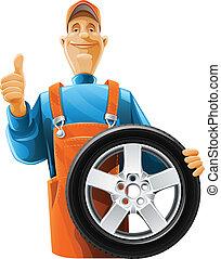 גלגל, מכונאי של מכונית