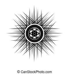 גלגל, מכונית, לוגו
