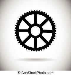 גלגל של שן הבגלגל, מכני, הפרד, איקון, פרט