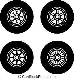 גלגל, f1, וקטור, סמלים