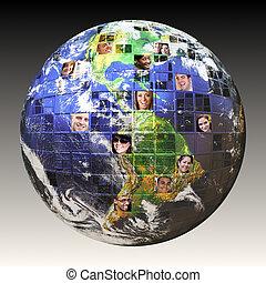 גלובלי, אנשים, רשת