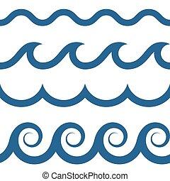 גלים, תבנית, seamless