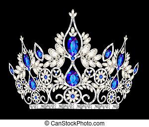 גלען, כחול, טיארה, חתונה, נשים, הכתר
