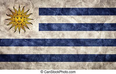 גראנג, אורוגואי, flag., בציר, פריט, דגלים, ראטרו, אוסף, שלי